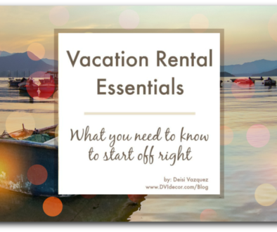 Vacation Rental Essentials List